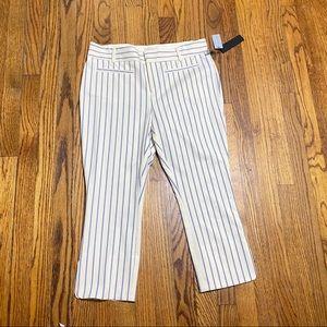 Anthropologie essential slim Capri pants striped